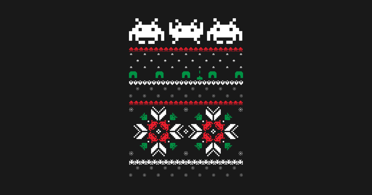 226e06d4be5e Retro Space Video Game 8 bit Pixel Ugly Christmas Sweater - Retro ...