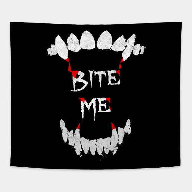 vampires only Bite Me Funny Sweatshirt