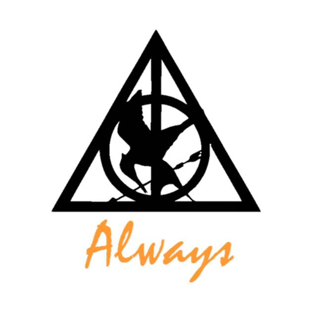 Deathly Hallows Mockingjay Always Harry Potter T Shirt Teepublic