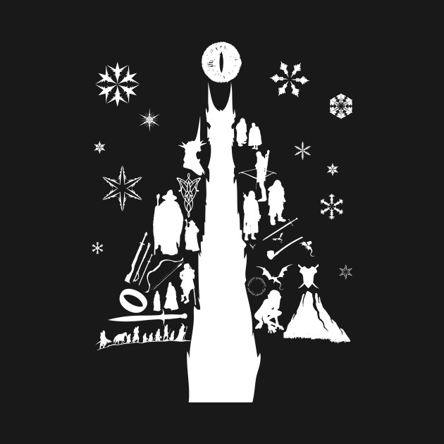 Lord Of The Rings Christmas Tree Silhouette