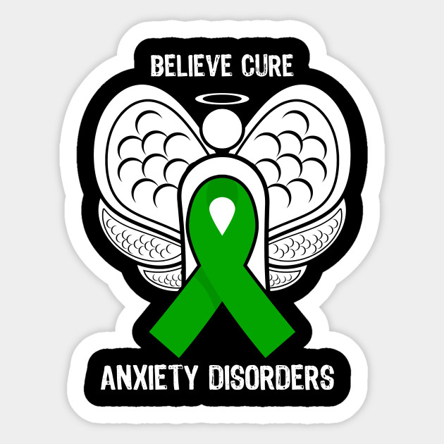 Believe Cure Anxiety Disorders Mental Health Awareness Ribbon