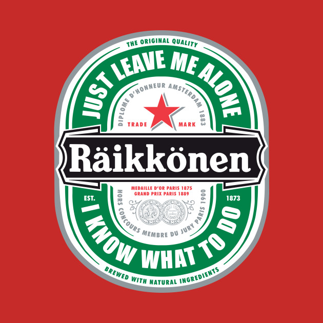"""Raikkonen Logo - """"Just Leave Me Alone, I Know What To Do"""" Large"""