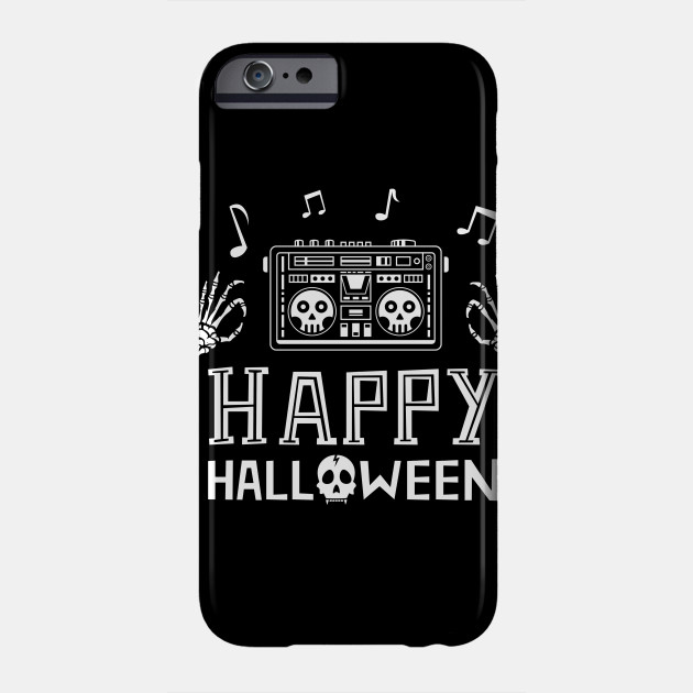 Happy Halloween boombox skull Phone Case
