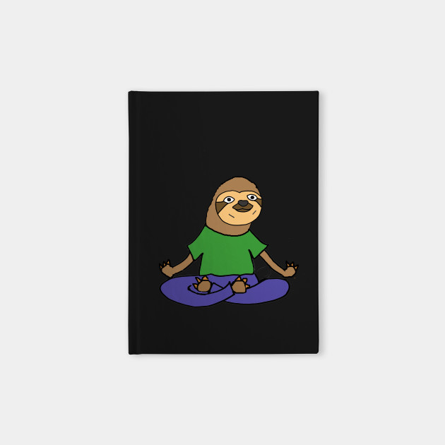 Cute Sloth doing Yoga Cartoon