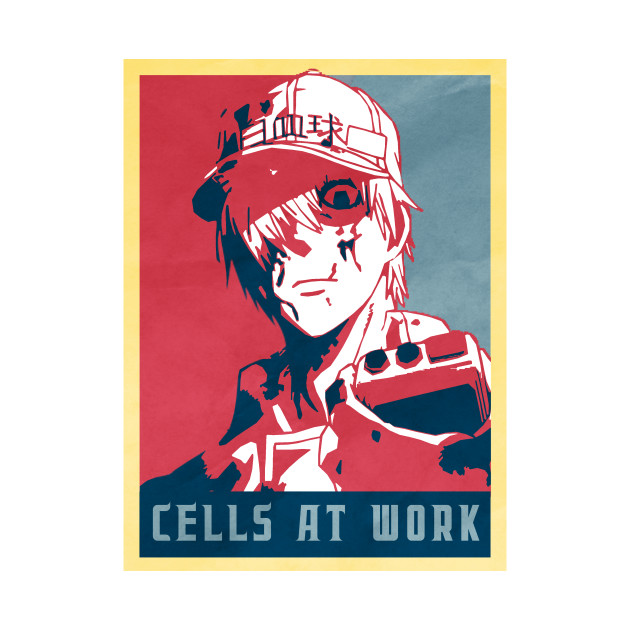 While Blood Cell - Cells At Work Political | Anime Shirt