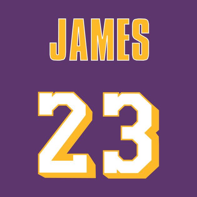 LeBron James Throwback Lakers Jersey 2 - Lebron James - T ...