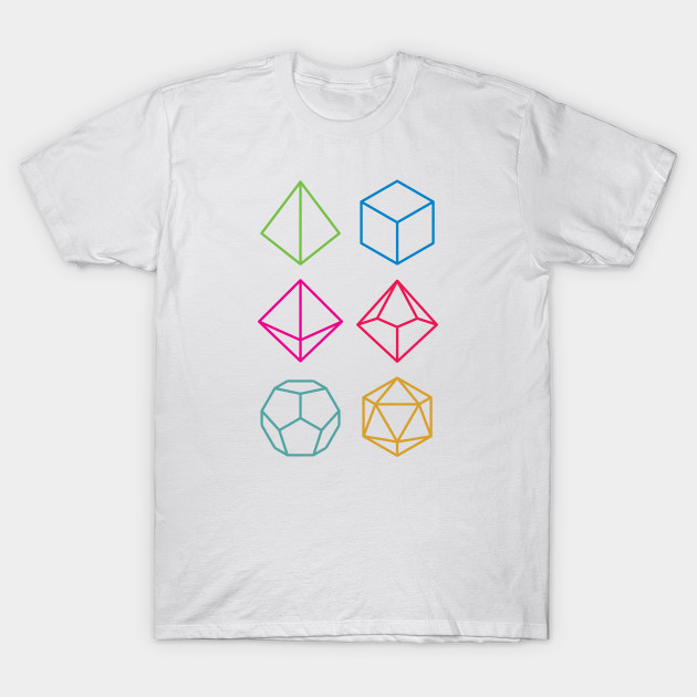 Roll - Dungeons & Dragons Line Art Series T-Shirt-TOZ