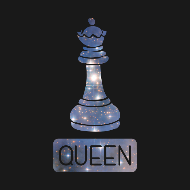 Queen Chess Piece Starry Night Galaxy