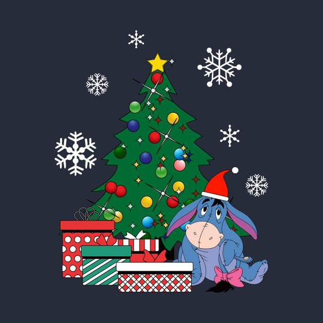 eeyore around the christmas tree winnie the pooh eeyore t shirt