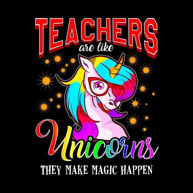 Teachers Are Like Unicorns They Make Magic Happen
