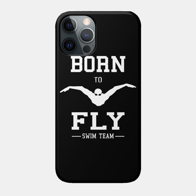 Swimmer Born To Fly Swim Team Butterfly Swimming Fan