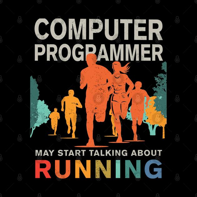 Runner Computer Programmer Running Shirt, Computer Programmer Runner Mask, Running Computer Programmer Stickers & Gifts