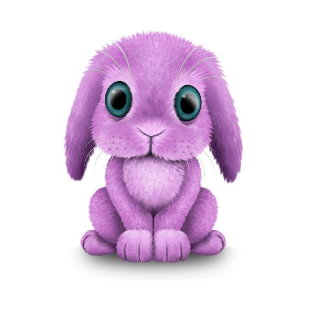 Cute Purple Baby Bunny Rabbit