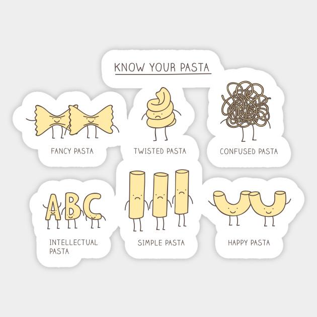 know your pasta pun sticker teepublic