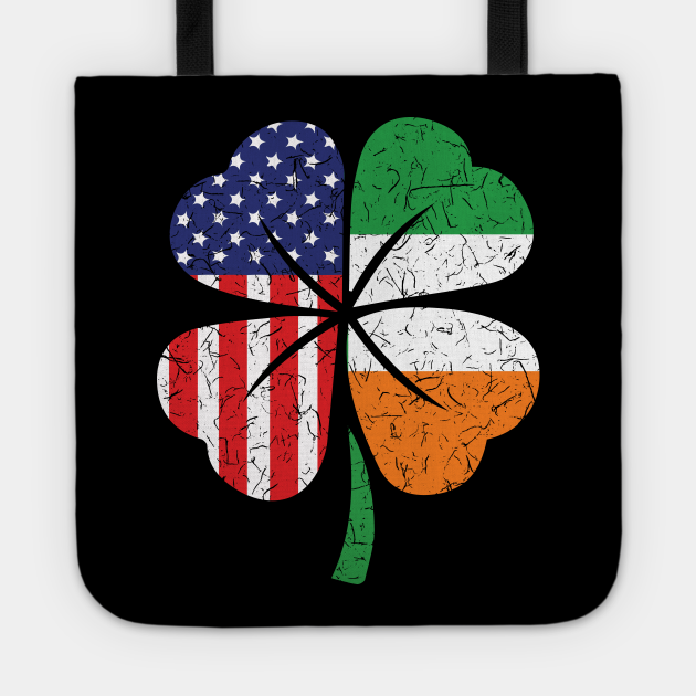 Irish American Flag St Patricks Day Beer Tee Gift Shamrock
