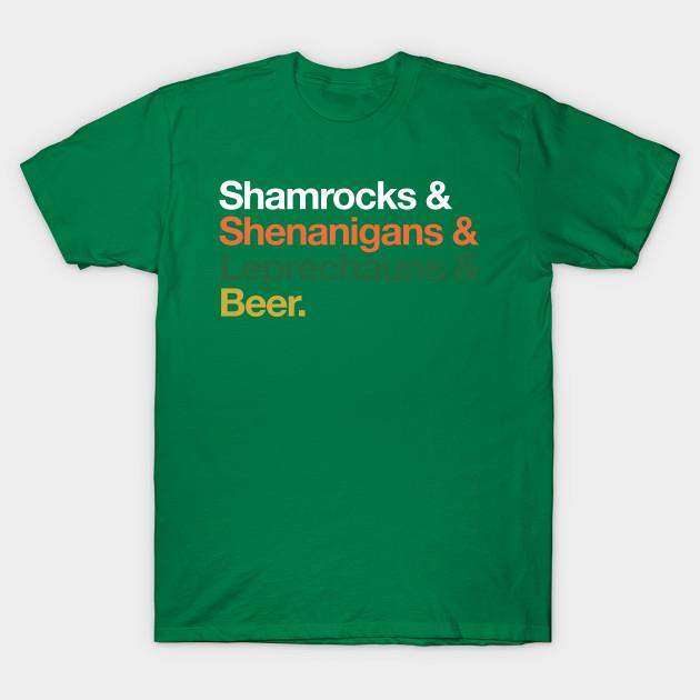 ce5dd6607 Shamrocks Shenanigans Leprechaun Beer Shirt St Patricks Day - St ...