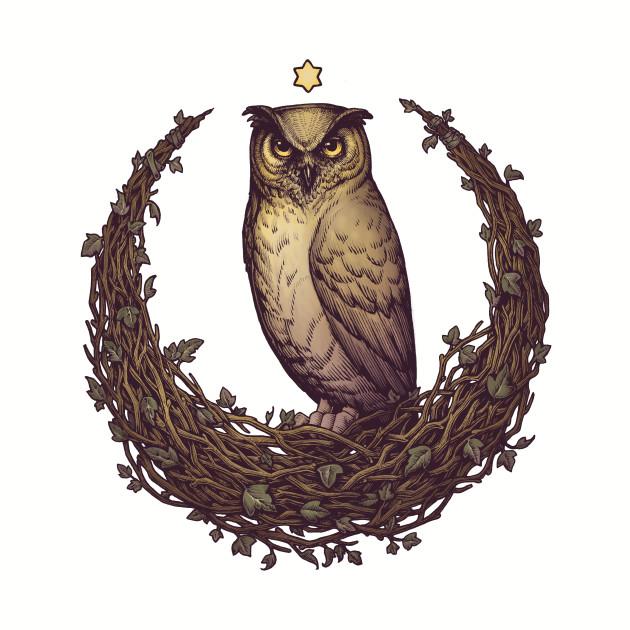 Owl Hedera Moon