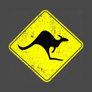 Kangaroo Crossing distressed t-shirts