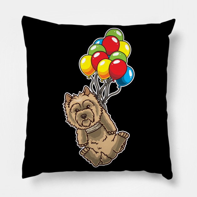 Funny Cairn Terrier Dog With Balloons
