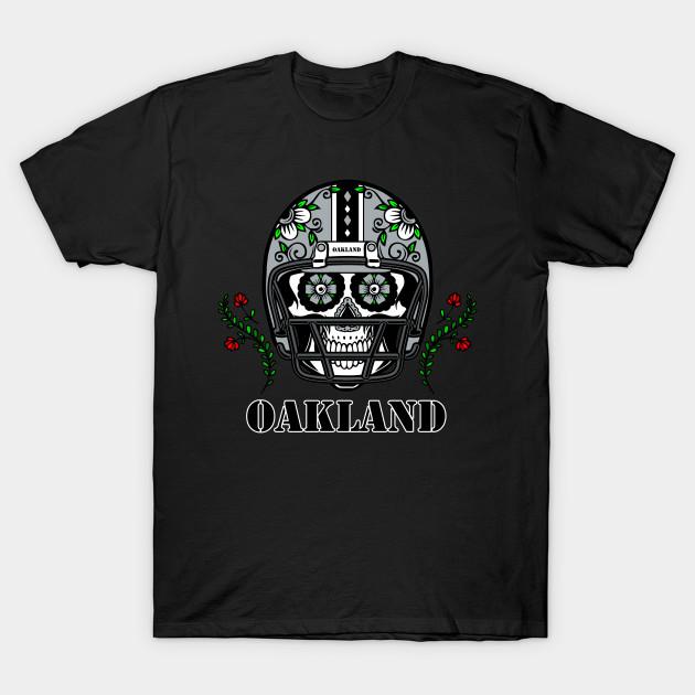 Oakland Raiders Football Skull Long Sleeve Shirt