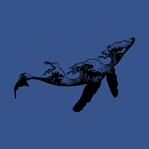 Whale Design Sea Waves Ocean Lover Sea Life Tattoo Design - Whale ...