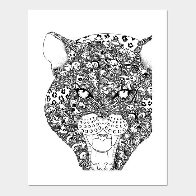 Mad Tiger Doodle Art - Doodle Art Work - Posters and Art Prints ...