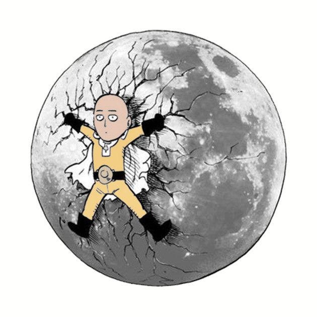 Saitama kicked onto the moon