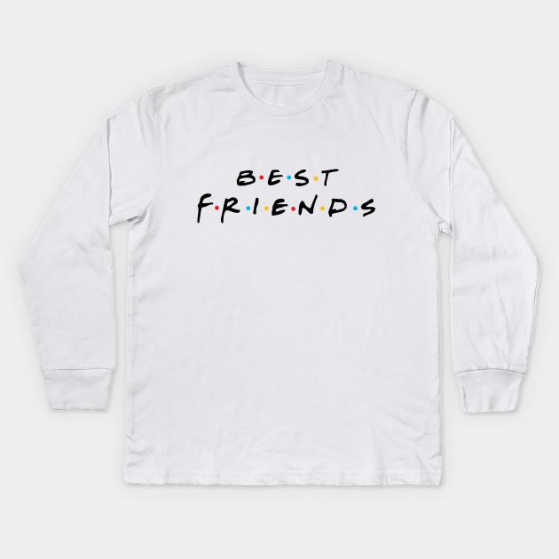 dcbbd0746 Best Friends For Couple Cool Show Friends TV Vintage Kids Long Sleeve T- Shirt