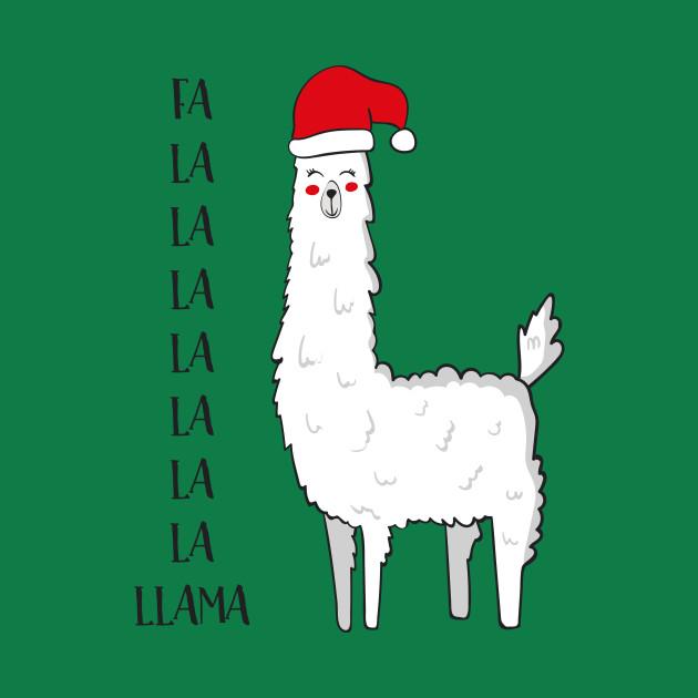 Christmas Llama.Fa La La La La La Llama Funny Llama Christmas Gift