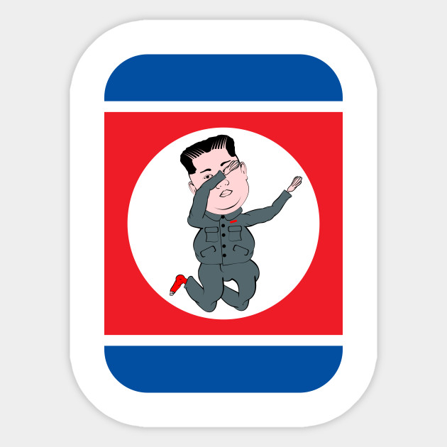 North Korea Dabbing North Korea Sticker Teepublic