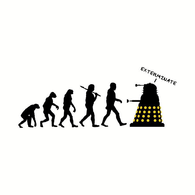 Dalek Destroy Human Evolution Silhouette