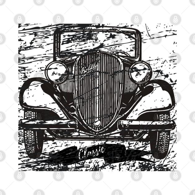 Vintage car.Retro car