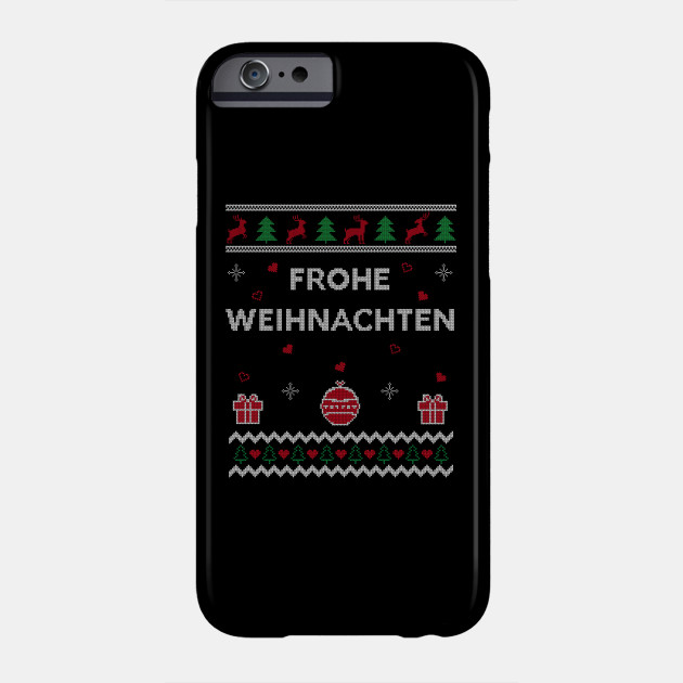 Merry Christmas German Ugly Christmas Gift Frohe Weihnachten Design Phone Case