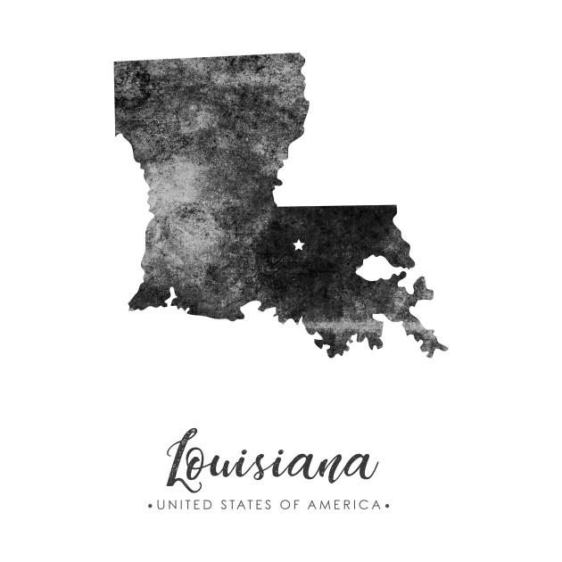Louisiana state map