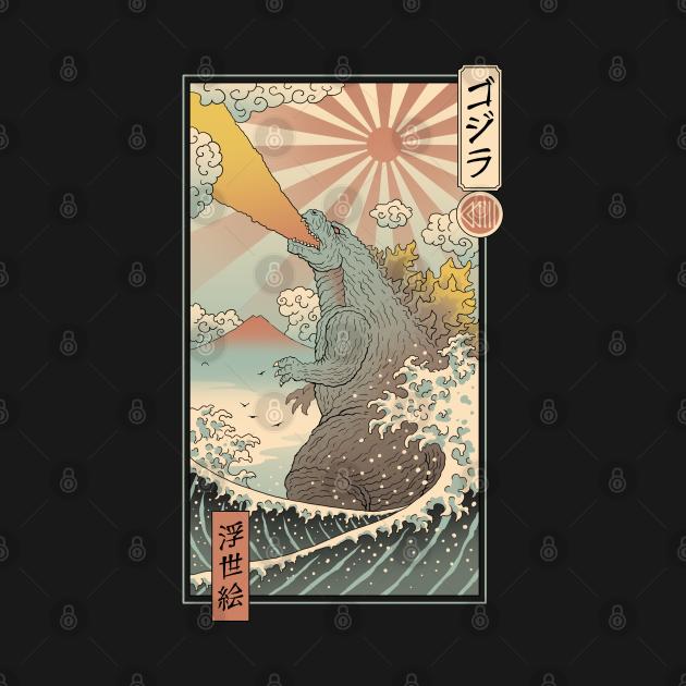 King Kaiju Ukiyo-e