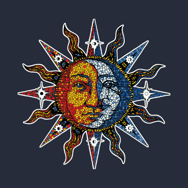 Celestial Mosaic Sun/Moon