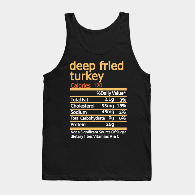Deep Fried Turkey Nutrition Facts Thanksgiving Thanksgiving Day Tank Top