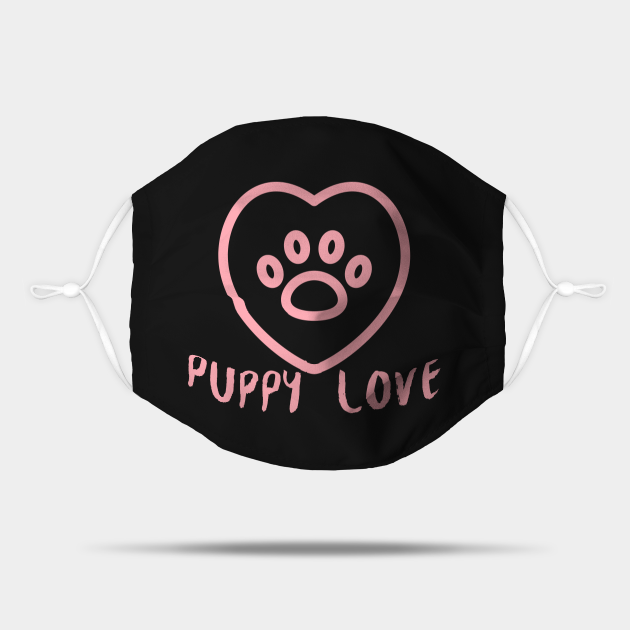 Pink Puppy Love Paw Outline