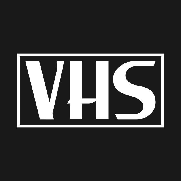 Vhs Logo In White Vhs T Shirt Teepublic