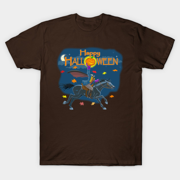 A Headless Horseman Halloween T-Shirt-TOZ