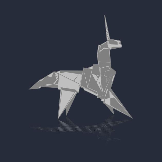 origami unicorn scifi tshirt teepublic