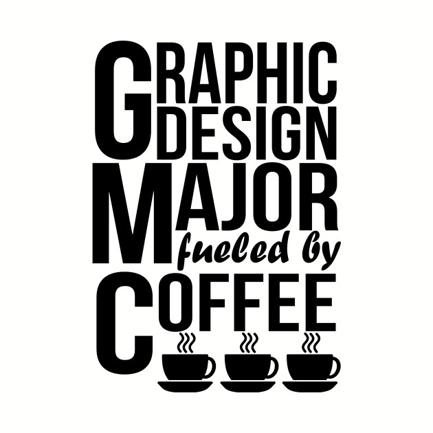 7cb924a6 Graphic Design Major Fueled By Coffee Graphic Design Major Fueled By Coffee