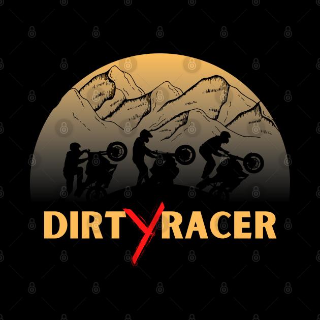 Dirt Racer Sports Biker Graphic Design