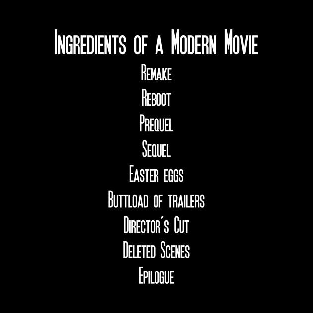 Ingredients Of A Modern Movie