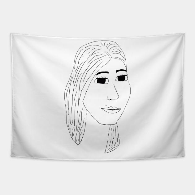 Line Art Girl