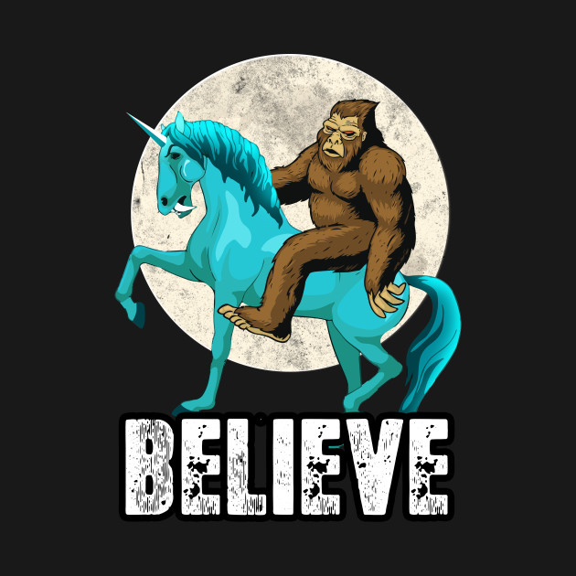 5cab333d ... Bigfoot Riding Unicorn T Shirt Funny Sasquatch Vintage Tees