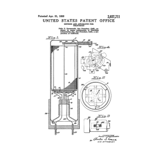 Early Television Patent Black t-shirts