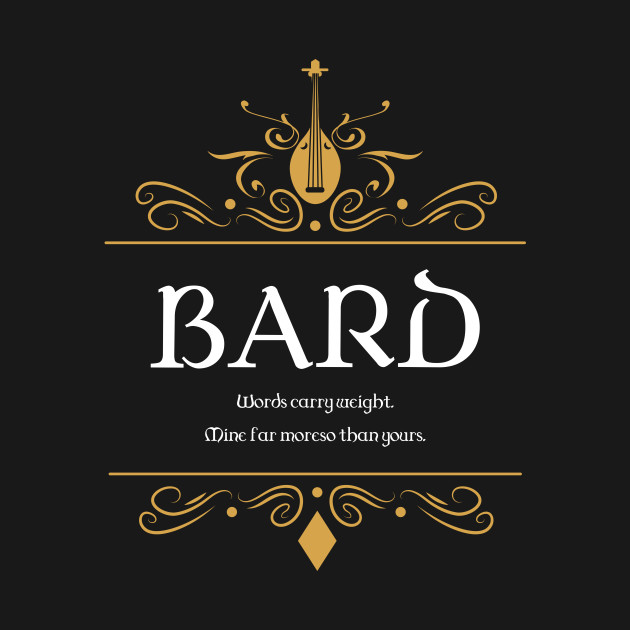 Bard Bards Buff Dungeons and Dragons - D&D Inspired DnD