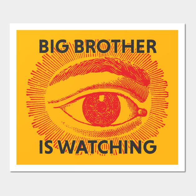 Big Brother is watching - Big Brother - Wall Art | TeePublic