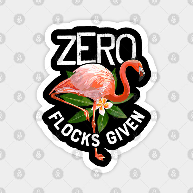 Zero Flocks Given Flamingo Adult Mens Casual Long Sleeve Sweater T Shirts